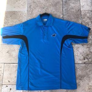 NFL Team Apparel Carolina Panthers Polo Shirt L